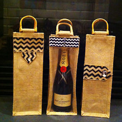 JUTE WINE / BOTTLE BAG